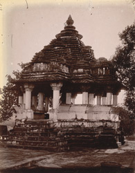 Front view of Nandi Pavilion east of the Vishvanatha Temple, Khajuraho